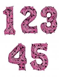 Palloncino alluminio rosa numero Minnie™
