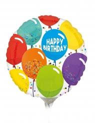 Mini palloncino in alluminio Happy Birthday palloni