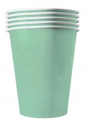 20 bicchieri in cartone riciclabile color menta