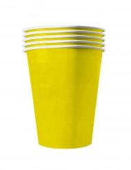 20 bicchieri in cartone riciclabile giallo limone