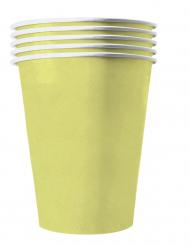 20 bicchieri in cartone riciclabile giallo pastello