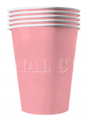 20 bicchieri in cartone riciclabile rosa pastello
