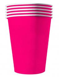 20 bicchieri in cartone riciclabile fucsia