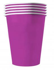 20 bicchieri in cartone riciclabile viola