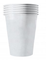 20 bicchieri in cartone riciclabile bianchi