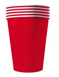 20 bicchieri in cartone riciclabile rosso 25 cl