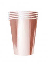 20 bicchieri in cartone riciclabile oro rosa