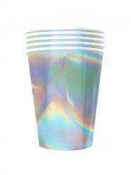 20 bicchieri in cartone riciclabile iridescenti