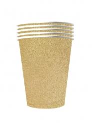10 bicchieri in cartone riciclabile oro brillante