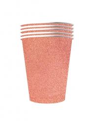 10 bicchieri in cartone riciclabile oro rosa