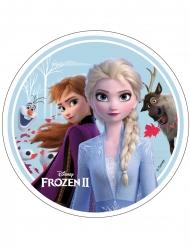 Disco di ostia Frozen 2™ Anna Elsa Olaf e Sven 21cm
