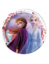 8 piatti in cartone FSC Frozen 2™ 23 cm