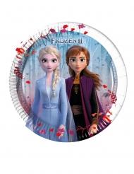 8 piattini in cartone Frozen 2™ 20 cm