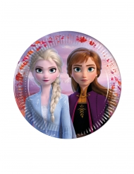 6 mini piatti in cartone Frozen 2™ 16 cm