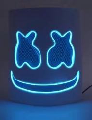 Maschera marshmellow blu a LED per adulti