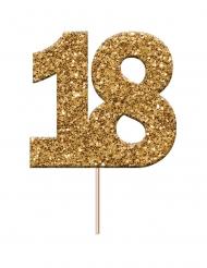 Decorazione per torte 18 oro con brillantini