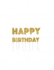 Candeline Happy Birthday dorate