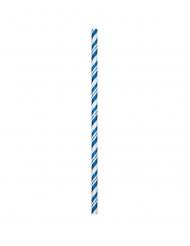 24 cannucce flessibile biodegradabili blu
