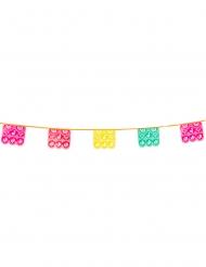 Ghirlanda con bandierine in plastica e motivi messicani
