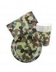Kit coordinati tavola usa e getta militare