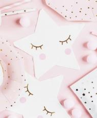20 tovaglioli in carta piccola stella bianca