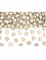 50 Coriandoli da tavola in legno a stella 2 x2 cm