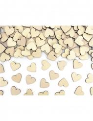 50 coriandoli in legno cuori 2x2 cm