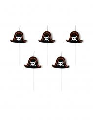 5 candeline di compleanno cappello da pirata