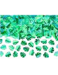 Coriandoli da tavola foglie tropicali verde metallizzato