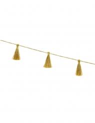 Ghirlanda in tessuto nappe dorate 6 cm x 1,9 m