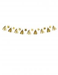 Ghirlanda in carta nappe e stelle dorate 15 cm x 1,3 m