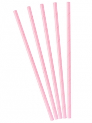 10 cannucce in cartone rosa chiaro