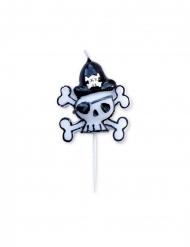 Candelina di compleanno teschio pirata