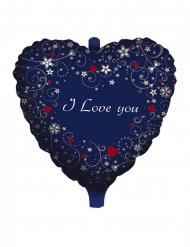 Palloncino alluminio cuore blu I love you