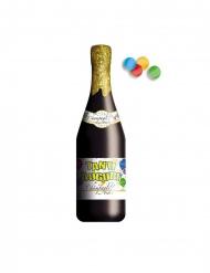 Sparacoriandoli bottiglia Tanti Auguri 30 cm