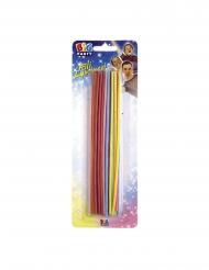 20 candeline sottili colorate