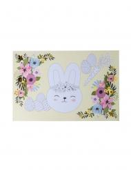 6 tovagliette di carta coniglietto da colorare