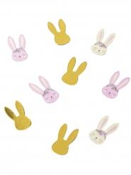 120 coriandoli di carta conigli rosa gialli e oro