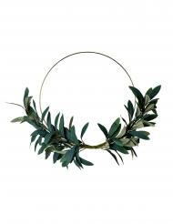 Corona in metallo oro con foglie di ulivo