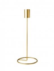 Portacandele con piede in metallo oro
