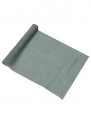 Runner da tavola in mussolina verde-grigio
