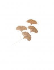 4 foglie di ginkgo paillettate