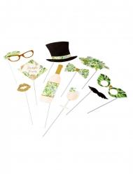 Kit photobooth tropical avorio e dorato