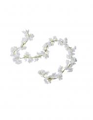 Ghirlanda artificiale di fiori di ciliegio bianchi