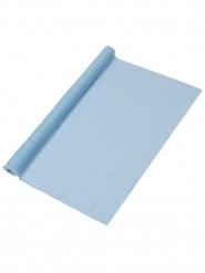 Runner in mussolina azzurro 48 cm x 5 m
