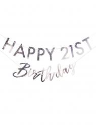 Ghirlanda personalizzabile Happy Birthday iridescente