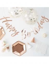 Kit decorazioni di compleanno oro rosa 70 pezzi