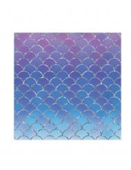16 tovaglioli in carta il mondo delle sirene 33 cm