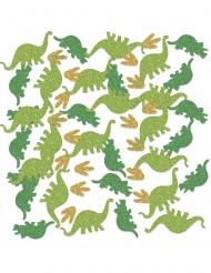 Coriandoli da tavola dinosauri con brillantini