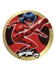 Disco in zucchero Miraculous Ladybug™ dorato 20 cm